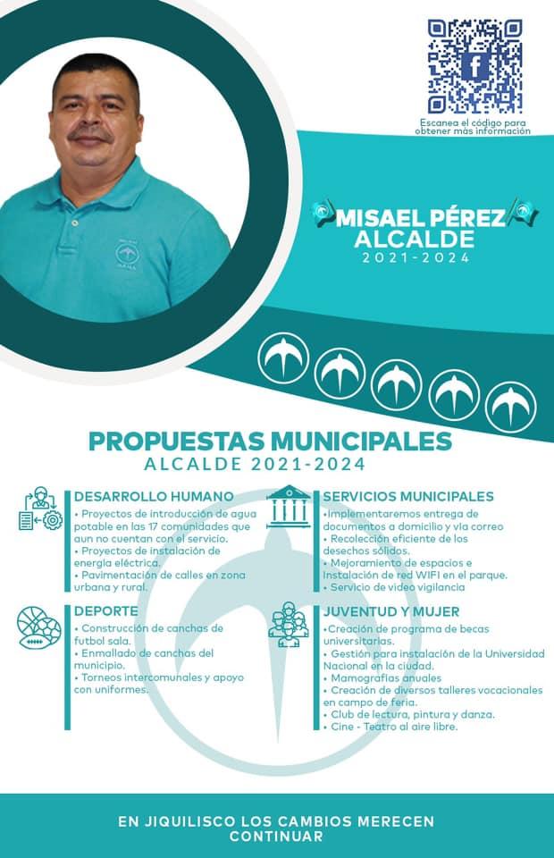 propuesta municipal jiquilisco Misael Pérez